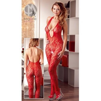 RED SUIT WITH PEARLS S/M