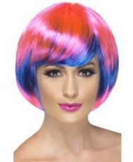 Funky Babe Wig Pink and Blue
