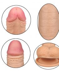 7'' Dual-layered Silicone Dildo- Flesh