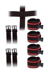 GP CROSSED STRAP RESTRAINTS WITH CUFFS