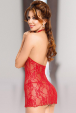 Carmen red XXL - Chemise with G-string