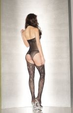 FLORAL FISHNET BODYSTOCKING - OS