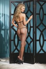 BOW ACCENTED FISHNET BODYSTOCKING BWB56B - OS