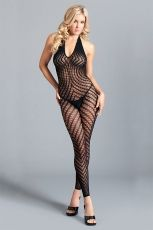 CROTCHLESS HALTER BODYSTOCKING BWB108 - OS