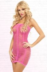 SHREDDED SEAMLESS TUBE DRESS - OS