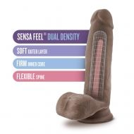 "Au Naturel - 7"" Sensa Feel Dildo - Chocolate"
