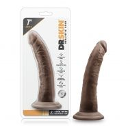 Dr. Skin - 7 Inch Cock With Suction Cup - Chocolate
