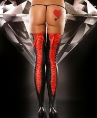 Lacing Stockings Red stockings L/XL