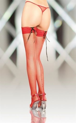 Stockings 5539 red, Plus Size - 5