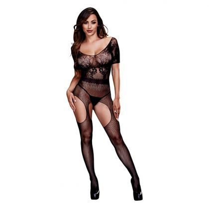 BACI - CROTCHLESS SUSPENDER BODYSTOCKING O/S