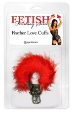 FF FEATHER LOVE CUFFS RED