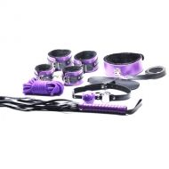 High  Quality 8 Pieces Bondage Kit - Purple
