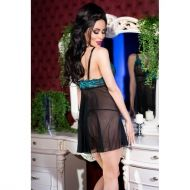 Black/Blue Babydoll + string CR 4214 - S/M