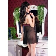 Black/Pink Babydoll + string CR 4214 - S/M