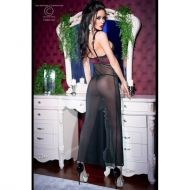 Black/Pink Longgown+String CR 4215 - L