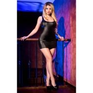 Black Wetlook Minidress CR 4062 - L/XL