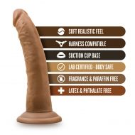 Dr. Skin - 7 Inch Cock With Suction Cup - Mocha