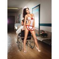 Nurse Mesh Negligee & Headwear Set O/S