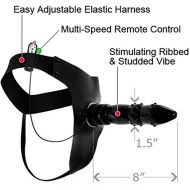 FETISH FANTASY SERIES BLACK MAGIC VIBRATING STRAP ON