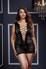 Baci - Ultra Corset Lace Up Cut Out Mini Dress BAC3130BLK - QS