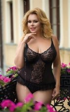 Set lenjerie Adel Black - Plus Size XXL