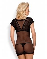 Set 2 piese Obsessive, Chemise & thong 821-CHE-1 - S/M