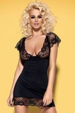 Set 2 piese Obsessive, Imperia chemise + thong S/M - S/M