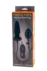 FANNY HILLS SILICONE BUT PLUG- 7 functii vibratie