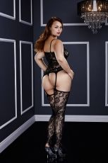 BACI - CORSET FRONT SUSPENDER LACE BODYSTOCKING - QS