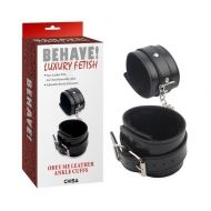 Behave ! Obey Me Leather Ankle Cuffs