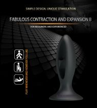 Silicone Butt Plug, Fabulous tension Exerciser Black II
