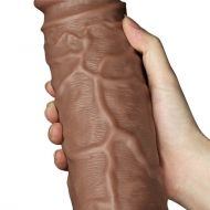 10.5'' Realistic Chubby Dildo Brown