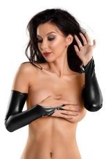 Glossy Wetlook gloves - S