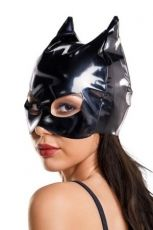 Glossy, Wetlook Cat Mask, Black, OS