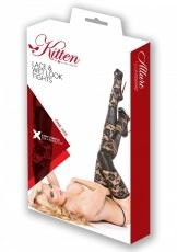 Wetlook Tights,  Kitten Allure, black - OS
