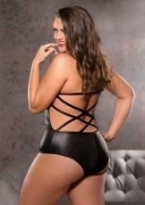 Strappy Teddy Allure, black - 1X/2X