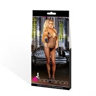 DEEP V CROTCHLESS BODYSTOCKING BLACK, LAPDANCE - OS