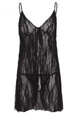 Rose Lace Babydoll Leg Avenue, Black - Plus Size