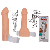 Plastic penis with ribbon,