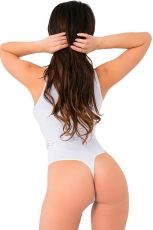 WOMANIZER SEAMLESS BODYSUIT WHITE, Pink Lipstick - OS