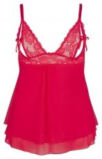 Babydoll Orion, red- 2XL