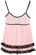 Babydoll-Set Orion, pink/black - L