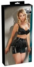 Vinyl Skirt with Peplum black, Orion - S