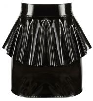 Vinyl Skirt with Peplum black, Orion - L