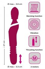 Massage Wand Warming & Thrusting Vibe