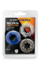 STAY HARD TRIPLE STRETCH 3PACK COCKRINGS